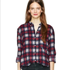 XS Wilfred Free Plaid Rollison Blouse